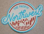 Northwest Mountains and Trees Blue Sticker