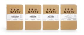 Field Notes Brand Plain Pack of 3 Notebooks