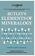 Rutleys Elements Of Mineralogy 26th Edition