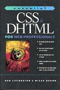 Essential Css & Dhtml For Web Profession