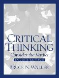 Critical Thinking Consider The Verd 4th Edition