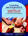 Learning Mathematics in Elementary and Middle Schools: A Learner-Centered Approach [With Myeducationlab] (Alternative Etext Formats)