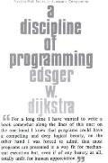 A Discipline of Programming https://covers.powells.com/9780132158718.jpg
