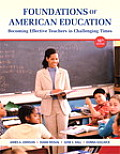 Foundations Of American Education Plus New Myeducationlab With Video Enhanced Pearson Etext Access Card