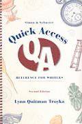 Quick Access Reference For Writers 2nd Edition