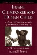 Infant Chimpanzee and Human Child