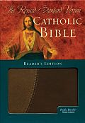 Bible Rsv Catholic Readers Ed Leather Brown indexed