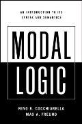 Modal Logic An Introduction to Its Syntax & Semantics