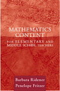 Mathematics content for elementary & middle school teachers