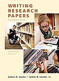 Writing Research Papers 13th Edition