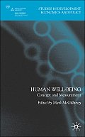 Human Well-Being: Concept and Measurement
