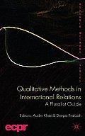Qualitative Methods in International Relations A Pluralist Guide
