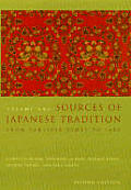 Sources of Japanese Tradition: 1600 to 2000