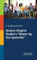A Study Guide for Quiara Alegria Hudes's Water by the Spoonful