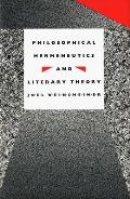 Philosophical Hermeneutics and Literary Theory
