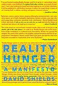 Reality Hunger A Manifesto