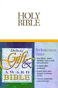 Bible Niv White Helps Red Letter
