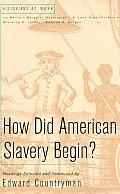 How Did American Slavery Begin Reading