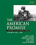 American Promise Volume B 1800 1900 3rd Edition
