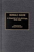 Donald Davie: A Checklist of His Writings, 1946-1988