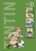 Tintin 3 in1 02 Broken Ear Black Island & King Ottokars Sceptre Volumes 6 7 & 8