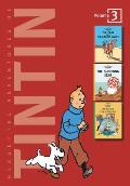 Tintin 3 in1 03 Crab with the Golden Claws Shooting Star & Secret of the Unicorn Volumes 9 10 & 11