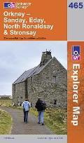 Orkney - Sanday, Eday, North Ronaldsay & Stronsay 1 : 25 000