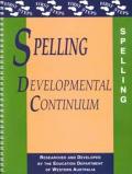 Spelling Developmental Continuum