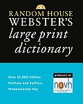 Random House Websters Large Print Dictionary