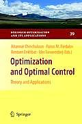 Optimization and Optimal Control: Theory and Applications
