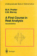 First Course In Real Analysis 2nd Edition