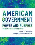American Government Power & Purpose