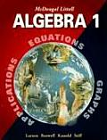 McDougal Littell Algebra 1 Applications Equations & Graphs 2001 Edition