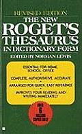 New Rogets Thesaurus In Dictionary Form