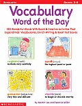 Vocabulary Word Of The Day Grades 3 6