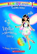Jewel Fairies 01 India The Moonstone Fairy with Sparkly Jewel Stickers
