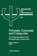 Percepts, Concepts and Categories, Volume 93: The Representation and Processing of Information