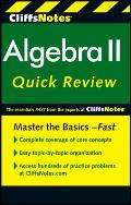 CliffsNotes Algebra II QuickReview 2nd Edition