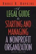 Legal Guide To Starting & Managing A Nonpr 2nd Edition