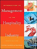 Introduction To Management in the Hospitality Industry (9TH 08 - Old Edition)