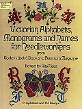Victorian Alphabets Monograms & Names for Needleworkers from Godeys Ladys B