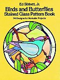Birds & Butterflies Stained Glass Pattern Book 94 Designs