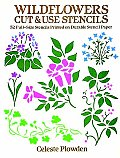 Wildflowers Cut & Use Stencils 52 Full Size Stencils Printed on Durable Stencil Paper