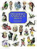 Old Fashioned Animals Stickers 79 Full Color Pressure Sensitive Designs