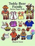 Teddy Bear Family Sticker Paper Dolls