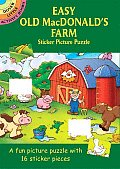 Easy Old MacDonalds Farm Sticker Picture Puzzle