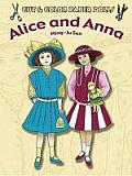 Cut & Color Paper Dolls Alice & Anna