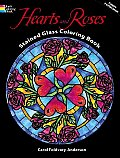 Hearts & Roses Stained Glass Coloring Bo
