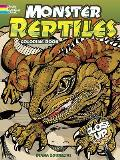 Monster Reptiles A Close Up Coloring Book