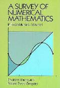 Survey Of Numerical Mathematics Volume 1